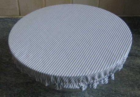 Couvercle en tissu pour grand saladier pour recouvrir les restes de repas