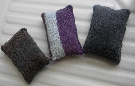 Éponge lavable rectangulaire en tissu